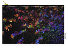 Carry-all Pouch featuring the painting Night Flowers by Greg Moores