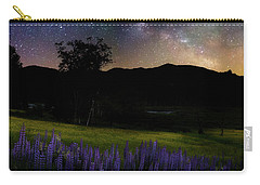 Carry-all Pouch featuring the photograph Night Flowers Square by Bill Wakeley