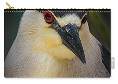 Night Heron Portrait Carry-all Pouch by Mitch Shindelbower