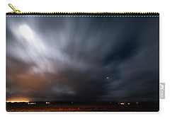 Carry-all Pouch featuring the photograph Night In Iceland by Dubi Roman
