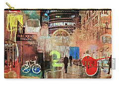 Carry-all Pouch featuring the photograph Night In The City by Susan Stone