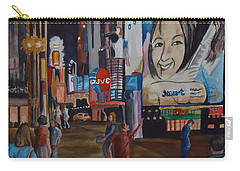 Night In Time Square Carry-all Pouch