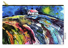 Carry-all Pouch featuring the painting Night by Kovacs Anna Brigitta