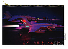 Night Launch - Uss Kitty Hawk Carry-all Pouch