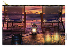 Carry-all Pouch featuring the photograph Night Lights At Sunset by Debra and Dave Vanderlaan