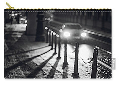Carry-all Pouch featuring the photograph Night Lights. Prague by Jenny Rainbow