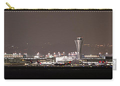 Carry-all Pouch featuring the photograph Night Operations by Alex Lapidus