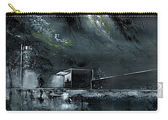 Carry-all Pouch featuring the painting Night Out by Anil Nene