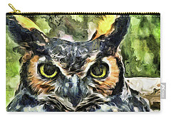 Night Owl Carry-all Pouch by Trish Tritz