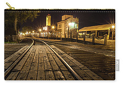 Carry-all Pouch featuring the photograph Night Rails by Charles Garcia