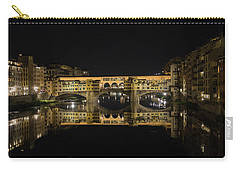 Night Reflections Of The Ponte Vecchio Carry-all Pouch