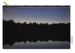 Night Reflects On The Pond Carry-all Pouch