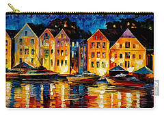 Night Resting Original Oil Painting  Carry-all Pouch