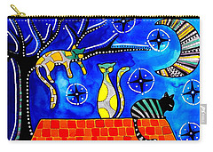Night Shift - Cat Art By Dora Hathazi Mendes Carry-all Pouch by Dora Hathazi Mendes