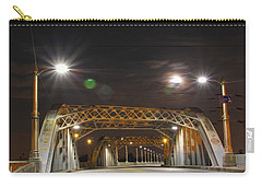 Night Shot Of The Los Angeles 6th Street Bridge And Supermoon #5 Carry-all Pouch