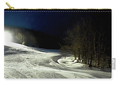 Carry-all Pouch featuring the photograph Night Skiing At Mccauley Mountain by David Patterson