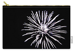 Carry-all Pouch featuring the photograph Night Sky Fireworks by Suzanne Luft
