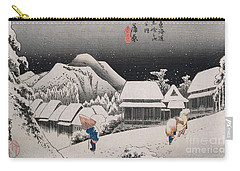 Night Snow Carry-all Pouch by Hiroshige