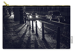 Carry-all Pouch featuring the photograph Night Street Of Prague by Jenny Rainbow