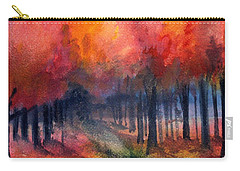 Night Time Among The Maples Carry-all Pouch by Laurie Rohner