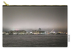 Night View Ocean City Downtown Skyline Carry-all Pouch by Robert Banach