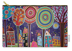 Night Village Carry-all Pouch