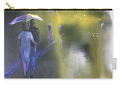 Carry-all Pouch featuring the painting Night Walk In The Rain by Raymond Doward
