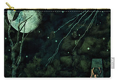Carry-all Pouch featuring the photograph Night Wings by Ken Frischkorn