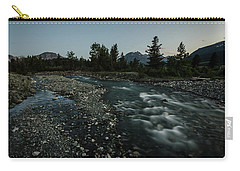 Carry-all Pouch featuring the photograph Nightfall In Montana by Margaret Pitcher
