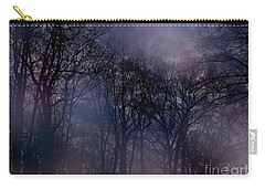 Nightfall In The Woods Carry-all Pouch by Sandy Moulder