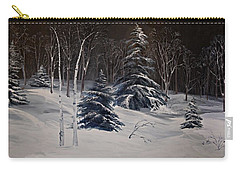 Night Time Snowy Woods Carry-all Pouch