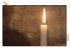 Carry-all Pouch featuring the mixed media Night's Candle by Terry Rowe