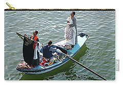 Carry-all Pouch featuring the digital art Nile River Garment Vendors - Egypt by Joseph Hendrix