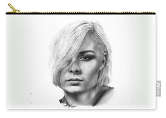 Nina Nesbitt Drawing By Sofia Furniel Carry-all Pouch by Sofia Furniel