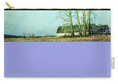 Carry-all Pouch featuring the photograph Nisqually Barns by Jean OKeeffe Macro Abundance Art