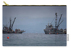 Carry-all Pouch featuring the photograph Nita Dawn And Cape George by Randy Hall