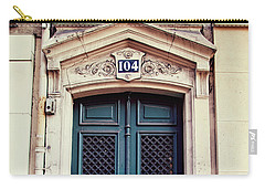 Carry-all Pouch featuring the photograph No. 104 - Paris Doors by Melanie Alexandra Price