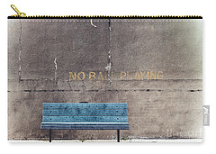 No Ball Playing - Bench Carry-all Pouch by Colleen Kammerer