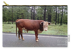Carry-all Pouch featuring the photograph No Bull by Roberta Byram