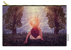 Carry-all Pouch featuring the digital art No Earthly Roots by Nicole Wilde