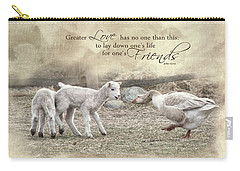 Carry-all Pouch featuring the photograph No Greater Love by Robin-Lee Vieira