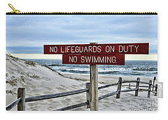 No Lifeguards On Duty Carry-all Pouch by Paul Ward