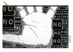 No Pictures Carry-all Pouch by ISAW Gallery