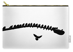 Carry-all Pouch featuring the photograph No Place To Land by AJ Schibig