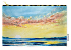 No Stress - Sunset Painting Carry-all Pouch