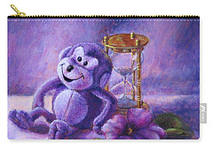No Time To Monkey Around Carry-all Pouch by Retta Stephenson