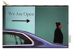 No We Are Closed  Carry-all Pouch by Empty Wall