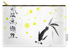 Fishies Couldn't Care Less About The Storm Above Carry-all Pouch by Oiyee At Oystudio