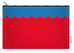 No046 My Jaws Minimal Movie Poster Carry-all Pouch by Chungkong Art