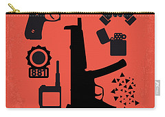 No453 My Die Hard Minimal Movie Poster Carry-all Pouch by Chungkong Art